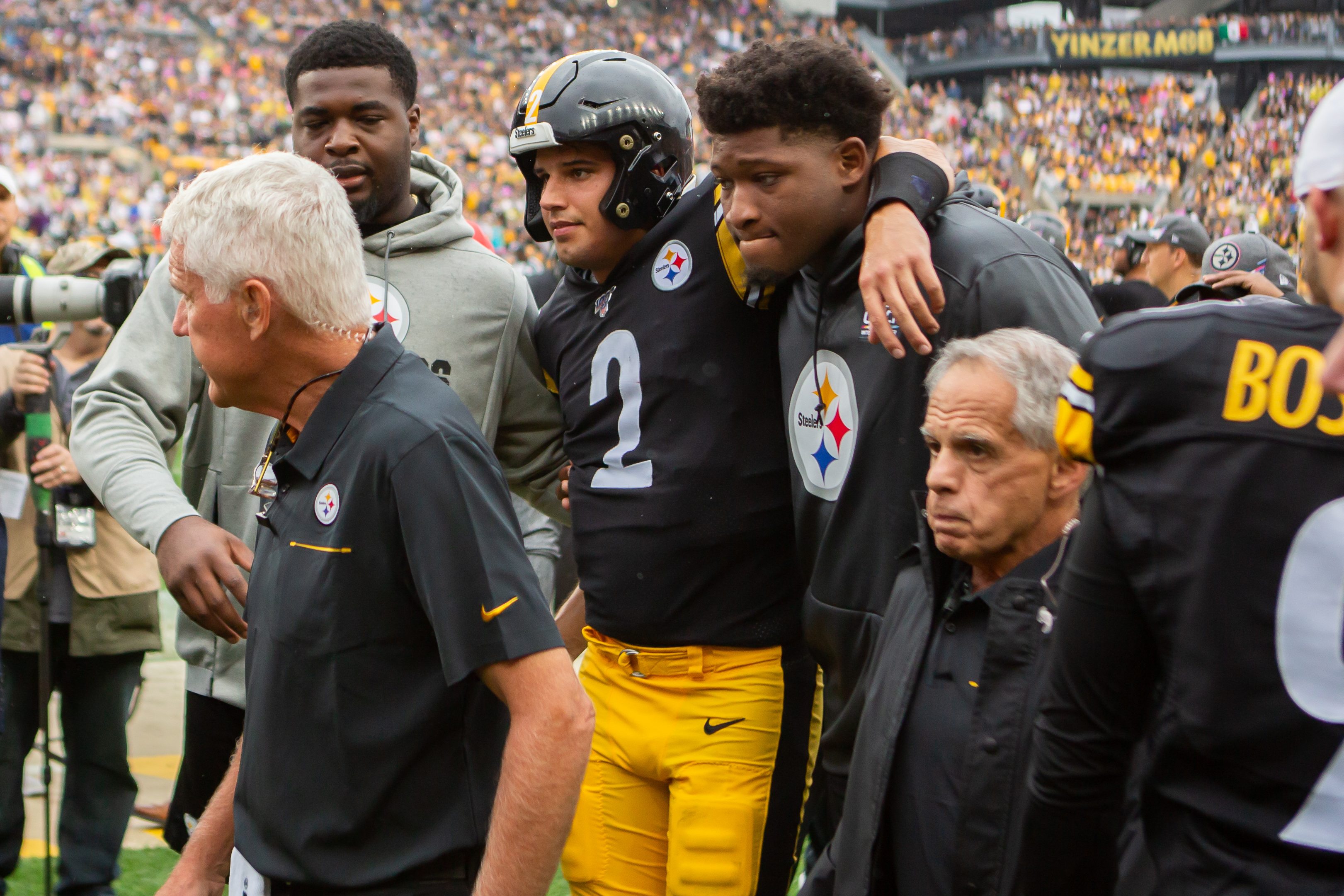 Steelers Qb Rudolph Leaves Game With Concussion